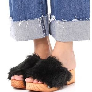 Free People Faux Fur Sonnet Clog